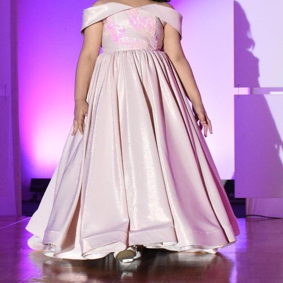 Light Light pink flower girl dress it shines